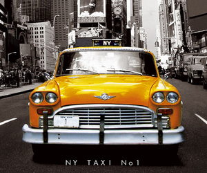 new york, taxi, and yellow image