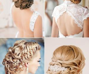 beautiful, wedding, and hairstyle image