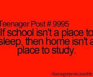 school, teenager post, and study image