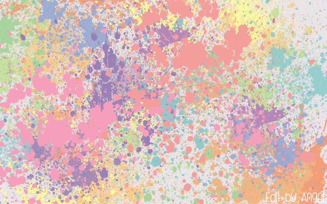 Pastel Splat Wallpaper By Foolish Angel On Deviantart