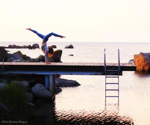 girl, summer, and flexible image