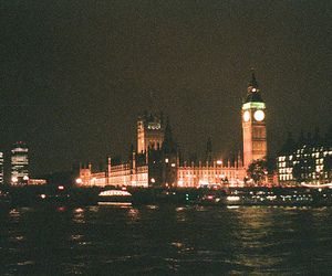 vintage, night, and Big Ben image