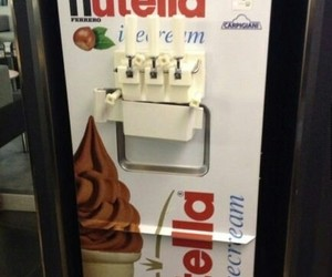 nutella, ice cream, and chocolate image