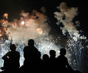 fireworks and boy image