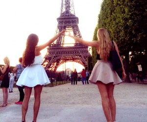 fashion, friendship, and paris image