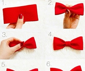 diy, red, and bow image