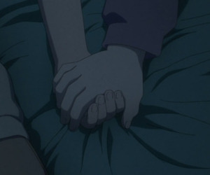 anime, care, and hands image