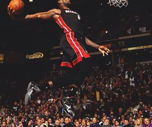 Basketball, dunk, and LeBron James image