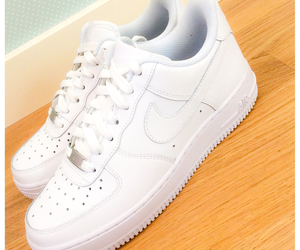 white, love, and nikeairforce image