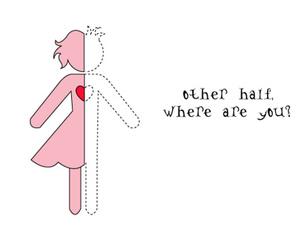 love, half, and heart image