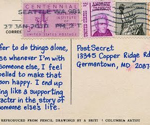 postcard and alone image