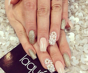 nails, flowers, and fashion image