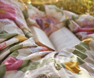 blanket, picnic, and pink image
