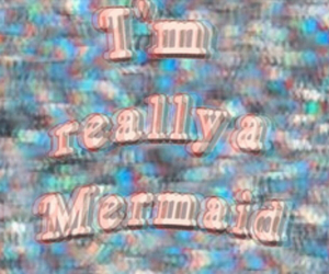 mermaid, grunge, and pale image