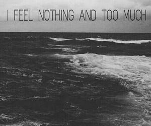black and white, feeling, and grunge image