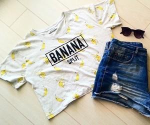 banana, summer, and outfit image