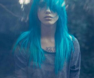 blue, blue hair, and colored hair image