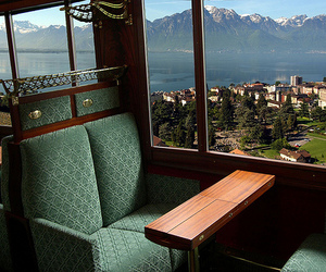 train, view, and chair image