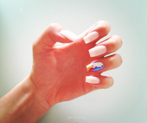 beach, nails, and white image