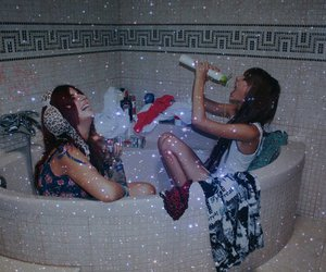bathtub, Effy, and fuckoff image