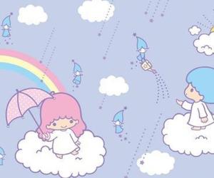 blue, pastel, and rain image