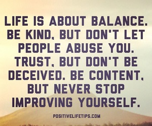 life, quote, and balance image
