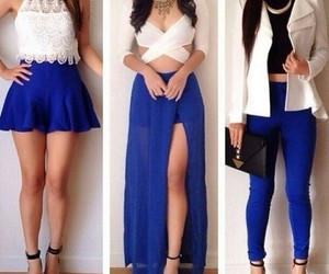 fashion, blue, and outfit image