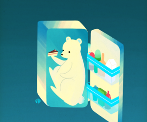 bear, cool, and freezer image