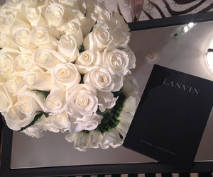 flowers, rose, and Lanvin image