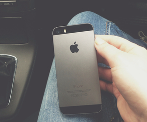 car, gray, and iphone image