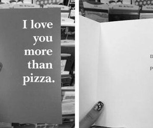 pizza, love, and funny image