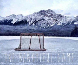 frozen, lake, and icehockey image