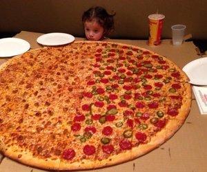 pizza, food, and big image
