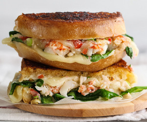 food, lobster, and sandwich image