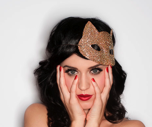 katy perry, mask, and red image