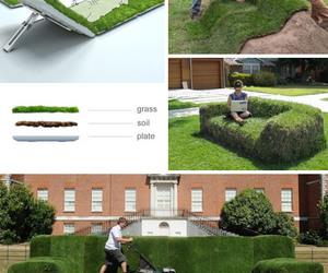 grass and sofa image