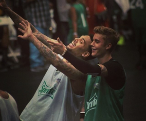chrisbrown and justinbieber and image