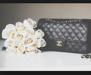 bag, black, and roses image