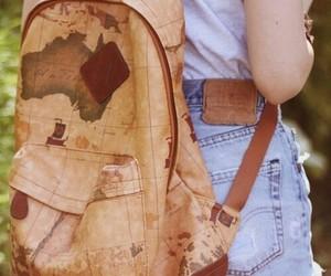 bag, vintage, and map image