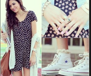 bethany mota, fashion, and converse image