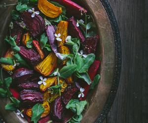food, salad, and beet image