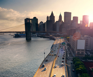 city, car, and road image