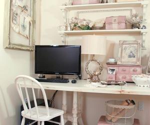 vintage, room, and desk image