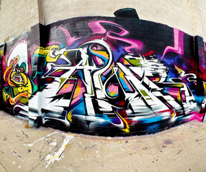 colorful, spray paint, and street art image