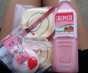 food, japan, and pink image