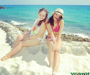 beach, sisters, and missyou image