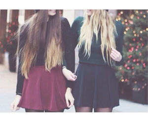christmas, ombre, and skater skirt image