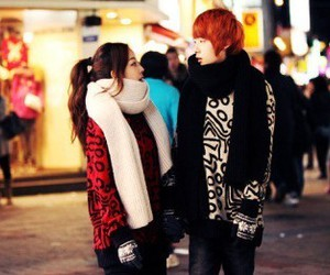 couple, korean, and cute image