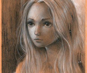 art, pastel, and girl image