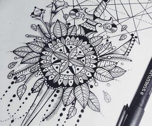 draw, drawing, and tattoo image